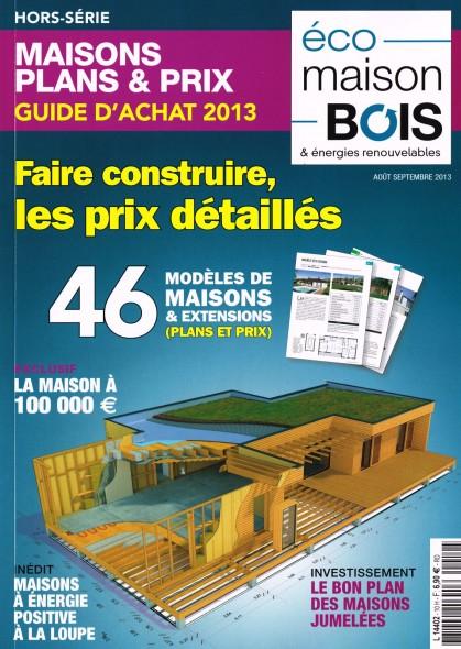 Couverture du Hors-Série Eco-Maison-Bois avec la maison Tricube en couverture.