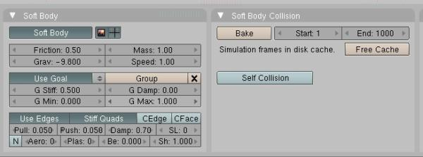tutorial : use oft softbody simulation in Blender for
